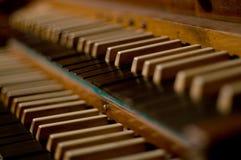 Klassiek orgaantoetsenbord Stock Afbeeldingen