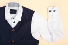 Klassiek overhemd en vest stock fotografie