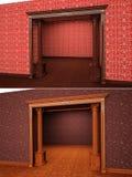 Klassiek portaal in het binnenlandse 3D teruggeven Stock Foto's