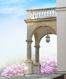 Klassiek portaal met kolommen royalty-vrije stock fotografie