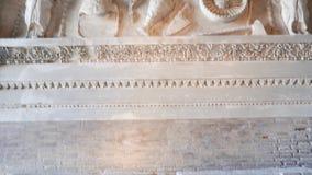 Klassiek Roman Architrave op de Capitoline-Heuvel in Rome stock videobeelden