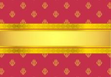 Klassiek Rood Behang Stock Afbeelding