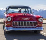 Klassiek Rood Chevrolet stock foto