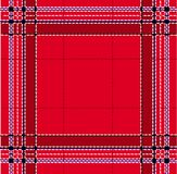 Klassiek rood geruite Schotse wollen stof Royalty-vrije Stock Foto