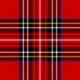 Klassiek rood geruite Schotse wollen stof Stock Afbeeldingen