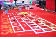 Klassiek roulettespel in een casino Royalty-vrije Stock Foto