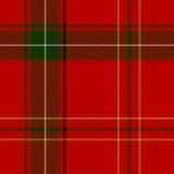 Klassiek Schots geruite Schotse wollen stof vector illustratie