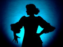 Klassiek silhouet royalty-vrije stock foto