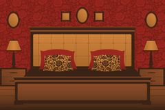 Klassiek slaapkamerbinnenland Royalty-vrije Stock Afbeeldingen