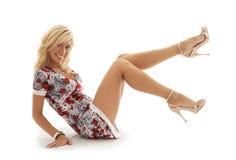 Klassiek speld-op blonde #2 Stock Afbeeldingen