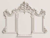 Klassiek spiegelkader op de witte muur vector illustratie