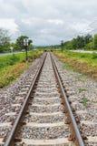 Klassiek spoorwegspoor in Thailand Royalty-vrije Stock Afbeeldingen