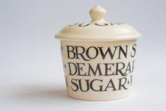 Klassiek Sugar Bowl Front View Royalty-vrije Stock Afbeelding