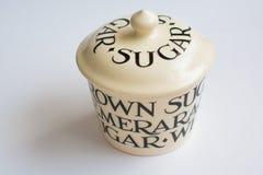 Klassiek Sugar Bowl Perspective View Royalty-vrije Stock Afbeeldingen