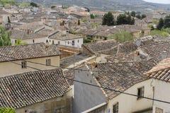 Klassiek tegeldak, Chinchon, Spaanse gemeente beroemd voor zijn Royalty-vrije Stock Foto