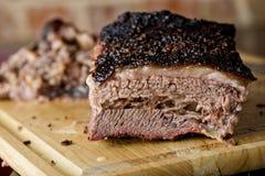 Klassiek Texas Smoked Beef Brisket Royalty-vrije Stock Afbeeldingen