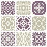 Klassiek uitstekend elegant pastelkleur violet naadloos abstract patroon 02 Royalty-vrije Stock Afbeelding