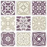 Klassiek uitstekend elegant pastelkleur violet naadloos abstract patroon 28 vector illustratie