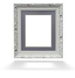 Klassiek wit houten kader  Stock Afbeelding