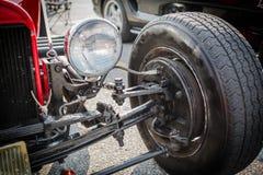 klassieke aangepaste retro uitstekende van de autowiel en rem onderdelen Royalty-vrije Stock Foto