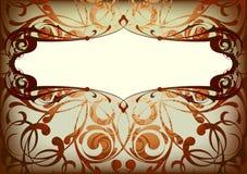 Klassieke achtergrond met frame Royalty-vrije Stock Afbeelding