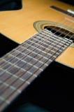 Klassieke akoestische gitaar Stock Afbeelding