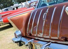 Klassieke Amerikaanse auto achterdetails Stock Foto