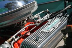 Klassieke Amerikaanse motor Stock Foto's