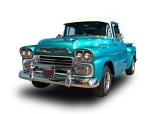 Klassieke Amerikaanse pick-up Witte achtergrond Royalty-vrije Stock Fotografie
