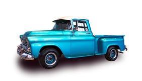 Klassieke Amerikaanse pick-up Witte achtergrond Stock Foto
