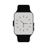 Klassieke analoge horloge wearable technologie vector illustratie