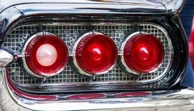 Klassieke auto achterlichten Stock Afbeelding