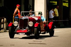 Klassieke auto bij de Historische Grand Prix 2017 van Bergamo Royalty-vrije Stock Fotografie