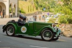 Klassieke auto bij de Historische Grand Prix 2017 van Bergamo Stock Foto's