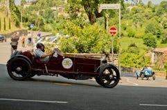 Klassieke auto bij de Historische Grand Prix 2017 van Bergamo Stock Afbeeldingen