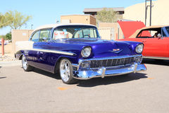 Klassieke Auto: 1956 Chevy Bel Air Stock Afbeeldingen