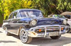 Klassieke auto in Cuba Stock Foto's