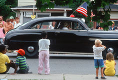 Klassieke auto in de Parade van de Onafhankelijkheid royalty-vrije stock afbeelding