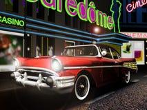 Klassieke auto in de stad Royalty-vrije Stock Afbeeldingen