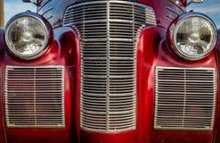 Klassieke Auto Front Closeup royalty-vrije stock afbeelding