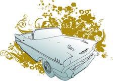 Klassieke auto grunge illustratio Royalty-vrije Stock Afbeeldingen