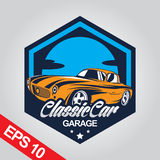 Klassieke Auto Logo Template Stock Fotografie