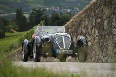 Klassieke auto's 2014_ Austin Silverstone Special Roadste de Zuid- van Tirol Royalty-vrije Stock Foto
