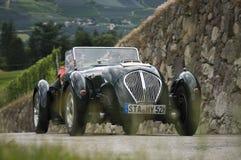 Klassieke auto's 2014_ Austin Silverstone Special Roadste de Zuid- van Tirol Stock Foto