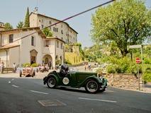 Klassieke auto's bij de Historische Grand Prix 2017 van Bergamo stock afbeelding