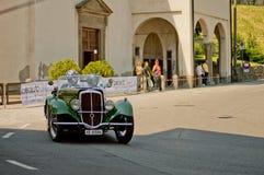 Klassieke auto's bij de Historische Grand Prix 2017 van Bergamo royalty-vrije stock foto
