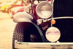 Klassieke Auto's op een rij stock afbeeldingen