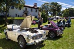 Klassieke Auto toont Long Island stock afbeeldingen