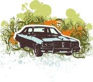 Klassieke autoillustratie Stock Fotografie