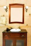Klassieke badkamersgootsteen Stock Afbeelding